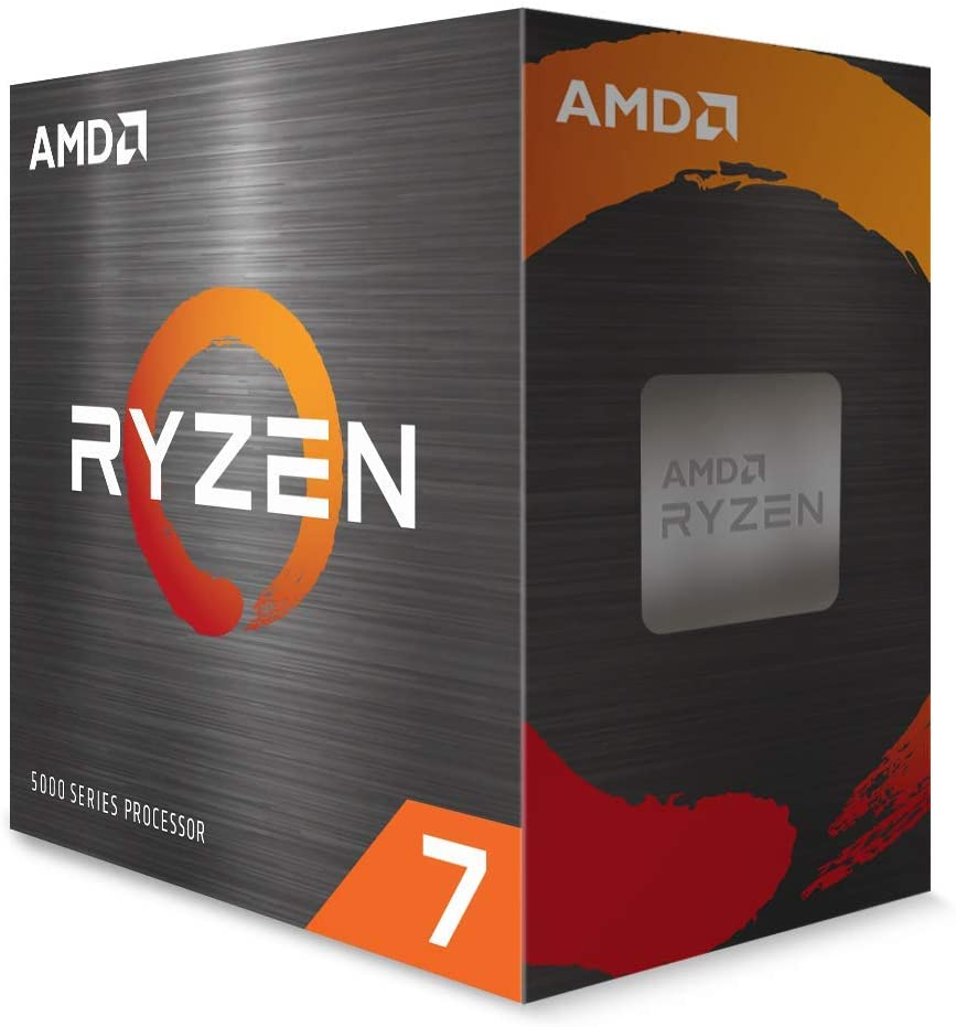 CPU AMD SOCKET AM4 RYZEN 7 5800X BOX, 8 CORES E 16 THREADS, 32MB DI CACHE, MAX CLOCK 4.7GHZ